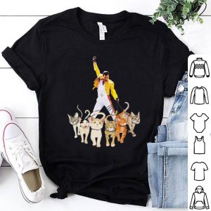 Freddie Mercury walking with his cats shirt