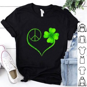 Hippie peace sign St. Patrick's day shirt