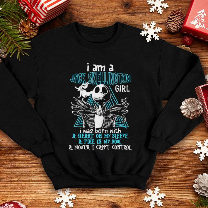 I am a Jack Skellington girl i was born with a heart on my sleeve shirt 4 - I am a Jack Skellington girl i was born with a heart on my sleeve shirt