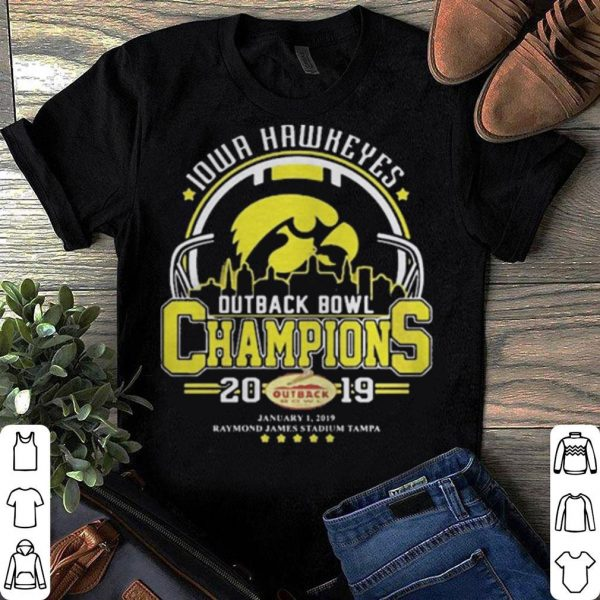 10wa hawkeyes outback bowl champions 2019 shirt