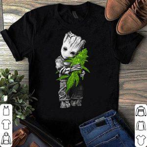 Baby Groot hugging weed shirt