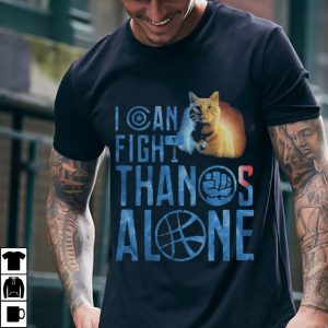 Cat Goose I can fight Thanos alone ladies shirt 1
