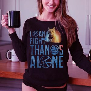 Cat Goose I can fight Thanos alone ladies shirt 2
