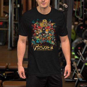 Cowboy Bebop to My Hero Academia your childhood anime as Avengers in Infinity War shirt