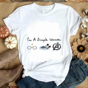 I'm A simple woman who love Harry Potter Disney Avengers shirt