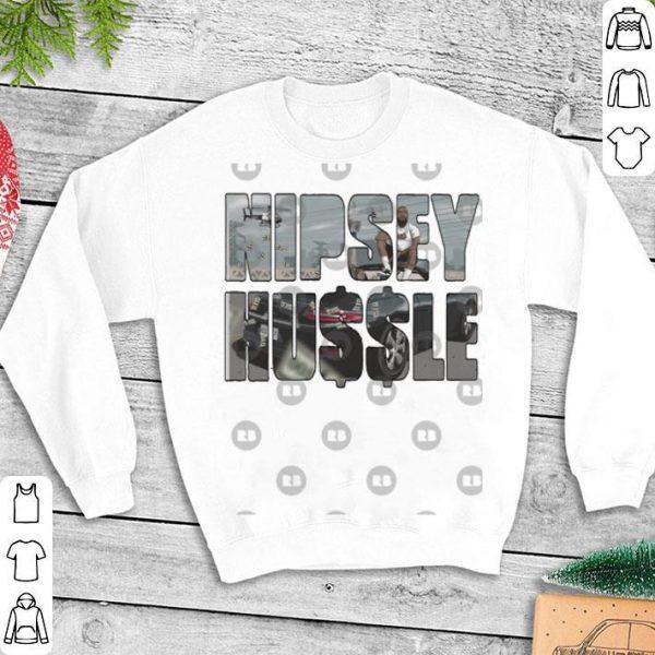 Nipsey Hussle Rip style font art fan shirt
