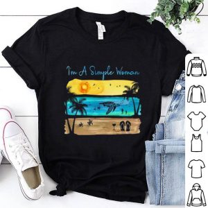 Sunshine turtle wine flip flops I'm A Simple Woman shirt