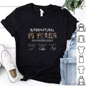 Supernatural 15 Years Anniversary all signatures shirt