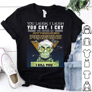Jeff Dunham You laugh i laugh you offend my Pittsburgh Penguins i kill you shirt