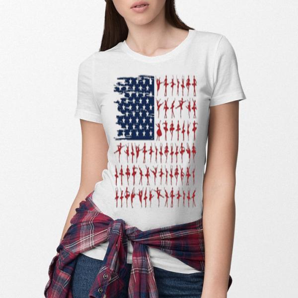 Ballet dancer American Flag 4th July independence day shirt