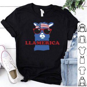 Llama Llamerica American flag shirt