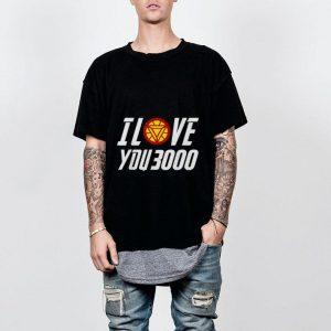 Arc Reactor Iron man I Love You 3000 shirt