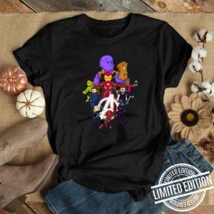 Avengers Endgame all hero cartoon shirt