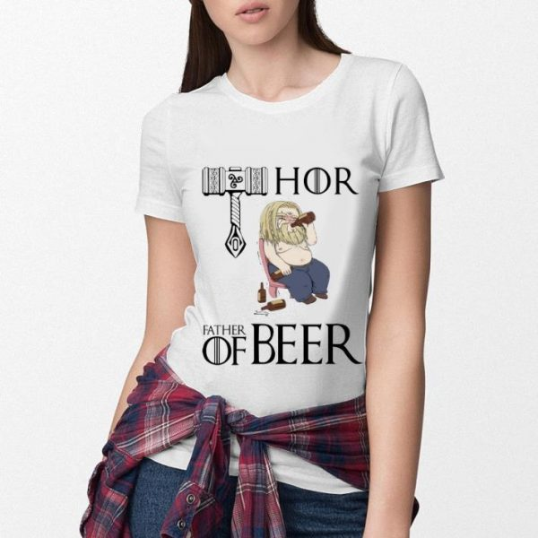 Avengers endgame fat Thor father of beer shirt