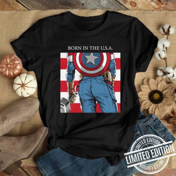 Born In The U.S.A. Captain America's Ass Standard shirt
