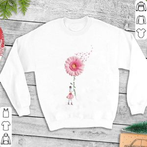 Breast Cancer Flower Girl never give up shirt