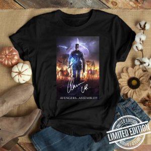 Chris Evans Captain America Avengers assemble signature shirt