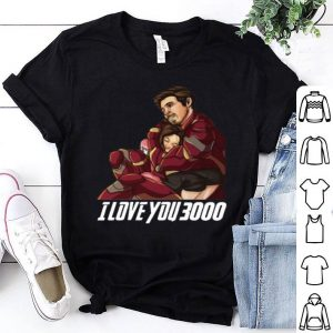 Dad And Daughter Iron Man I Love You 3000 shirt