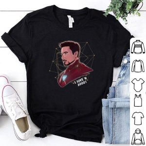 Iron Man Tony Stark I love U 3000 daughter shirt