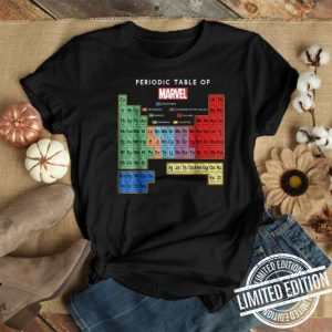 Marvel Ultimate Periodic table of Elements graphic shirt