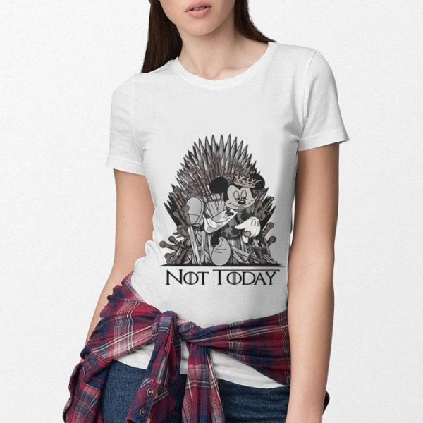 Mickey mouse King Not Today Game of Thrones shirt