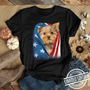 Yorkshire Terrier America flag shirt