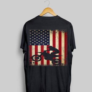 4th Of July Vintage Dirt Bike American Flag shirt