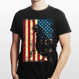 American Chicken Usa Flag Farming Patriotism shirt