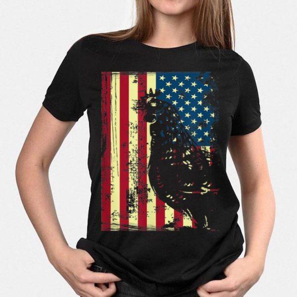 American Chicken Usa Flag Farming Patriotism shirt