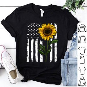 American Sunflower flag shirt