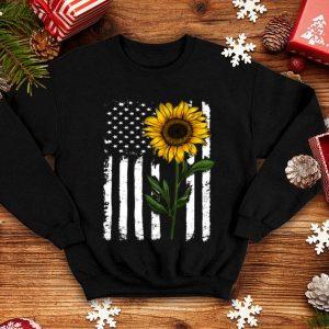 American Sunflower flag shirt