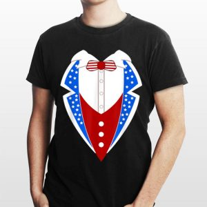 American Tuxedo Usa Flag 4th Of July Funny Men Boys shirt