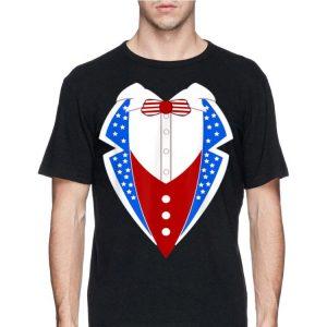 American Tuxedo Usa Flag 4th Of July Funny Men Boys shirt