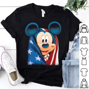 American flag Mickey mouse shirt