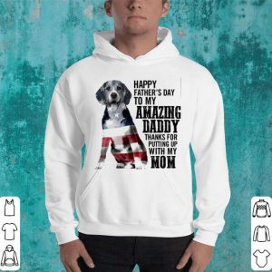 Beagle happy father's day to my amazing daddy American flag shirt