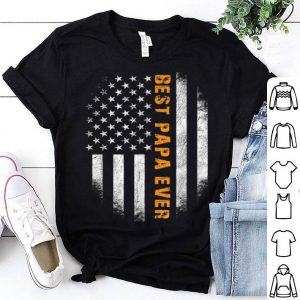 Best Papa Ever American Flag Usa Flag shirt