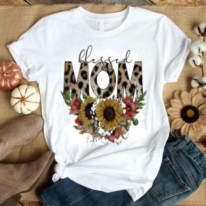 Blessed Mom floral shirt