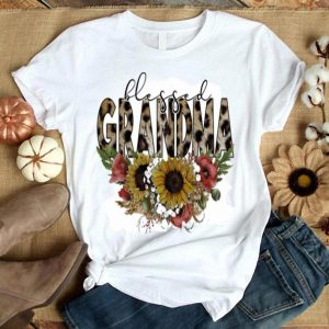 Blessed grandma floral shirt