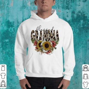 Blessed grandma floral shirt