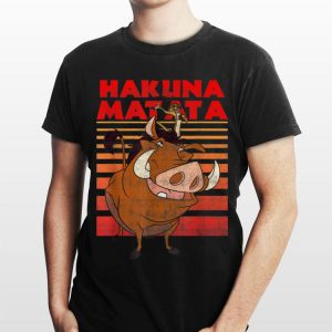 Disney Lion King Timon Pumbaa Hakuna Matata Stripes shirt