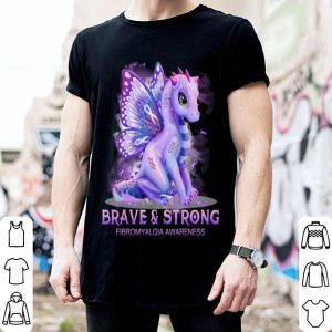 Dragon Brave & strong Firbromyalgia Awareness shirt
