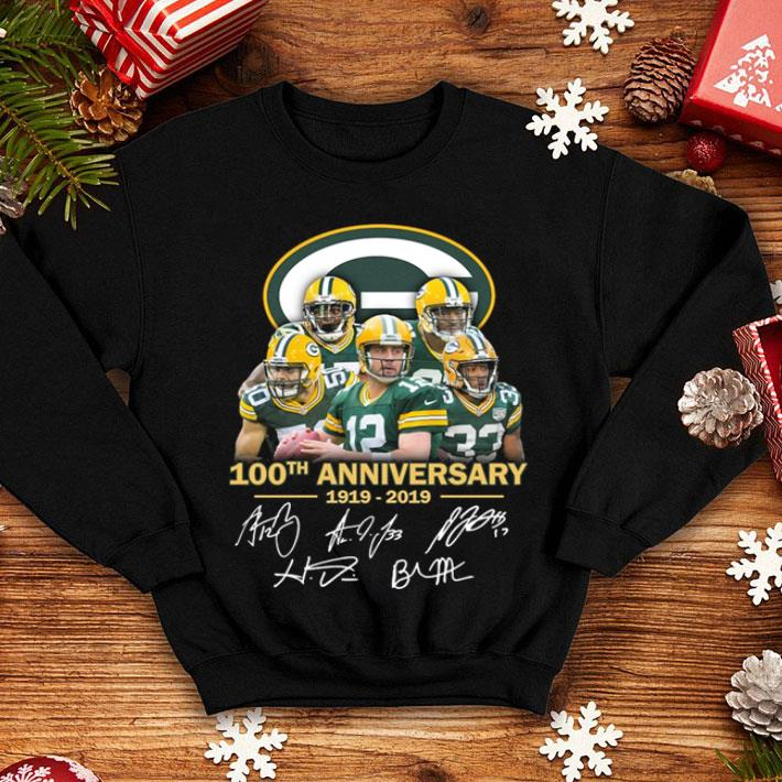 pretty nice bb8a6 f1cf6 Green Bay Packers 100th anniversary 1919-2019 signatures shirt, hoodie,  sweater, longsleeve t-shirt