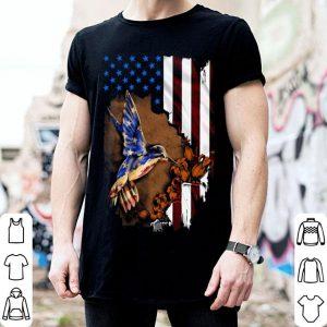 Humming bird US flag 4th of july shirt
