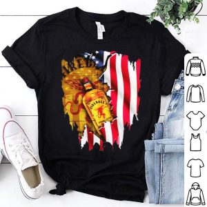 Independence day 4th of july Fireball Cinnamon Whisky American flag shirt