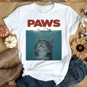 Jaws Paws cat meow shirt