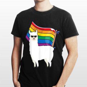 LGBT Flag Llama Gay Lesbian Resist Men Women shirt