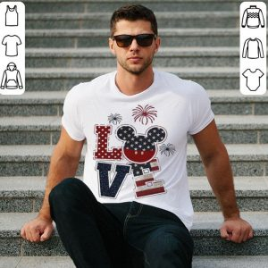 Love Mickey 4th of July American flag shirt