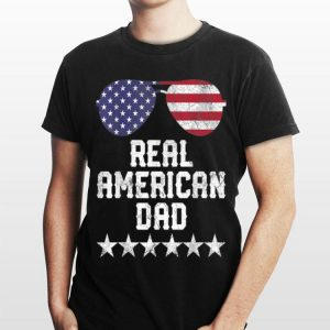 Mens Funny Fourth Of July 4th Real American Dad Usa American Flag shirt