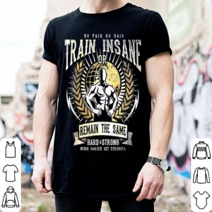 No pain no gain train insane or remain the same hard & strong shirt