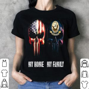 Skulls American flag my home United States Navy my family shirt